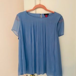 Vince Camuto pleated blue top
